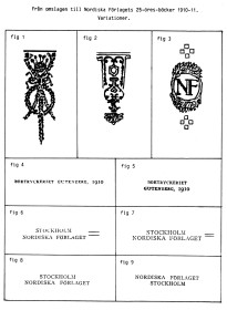 Nordiska Förlagets utgåvor 1910-11. Variationer.